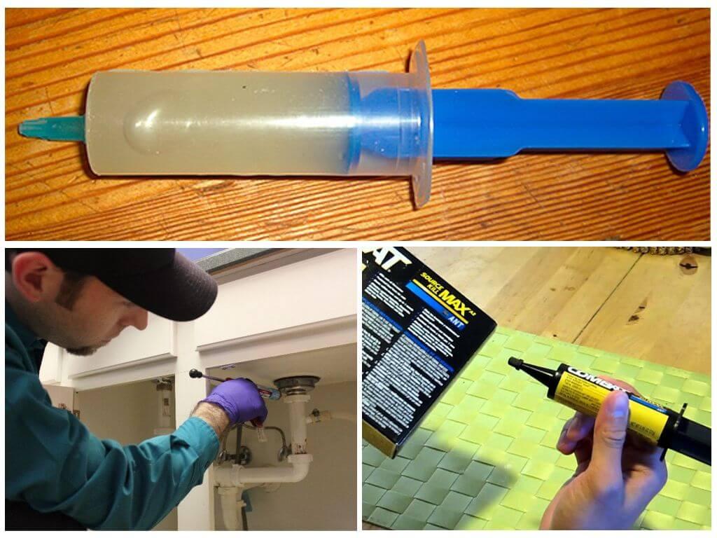 Применение геля в шприце