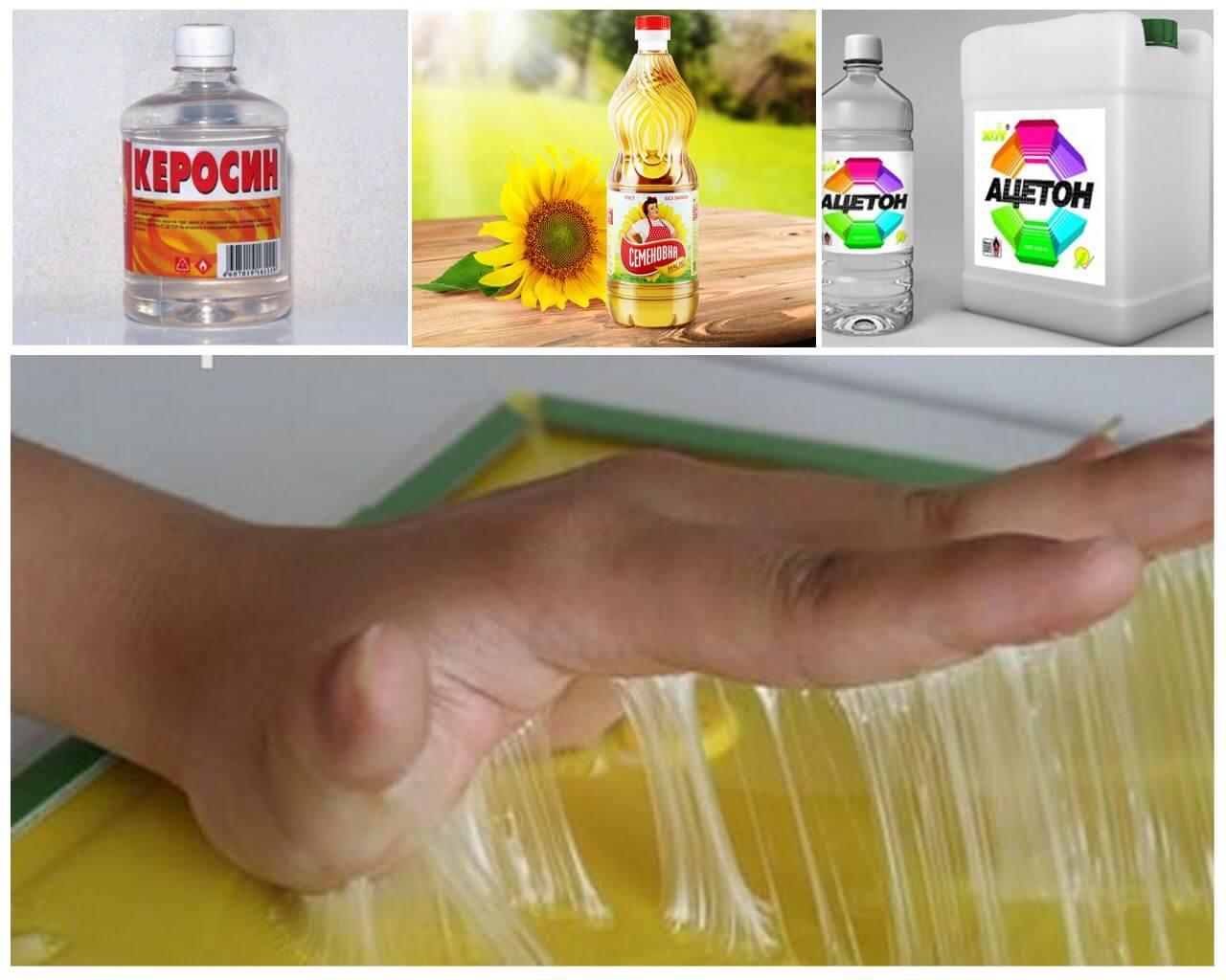 Очищение рук от клея для мышей