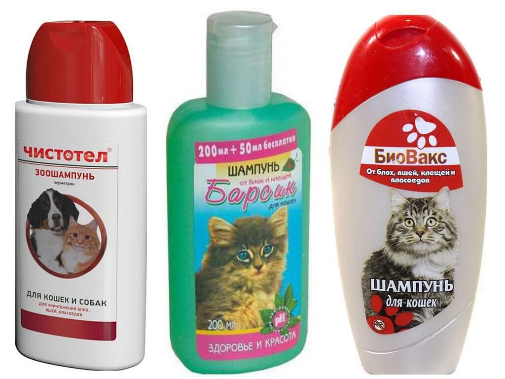 Шампуни от блох для кошек и собак