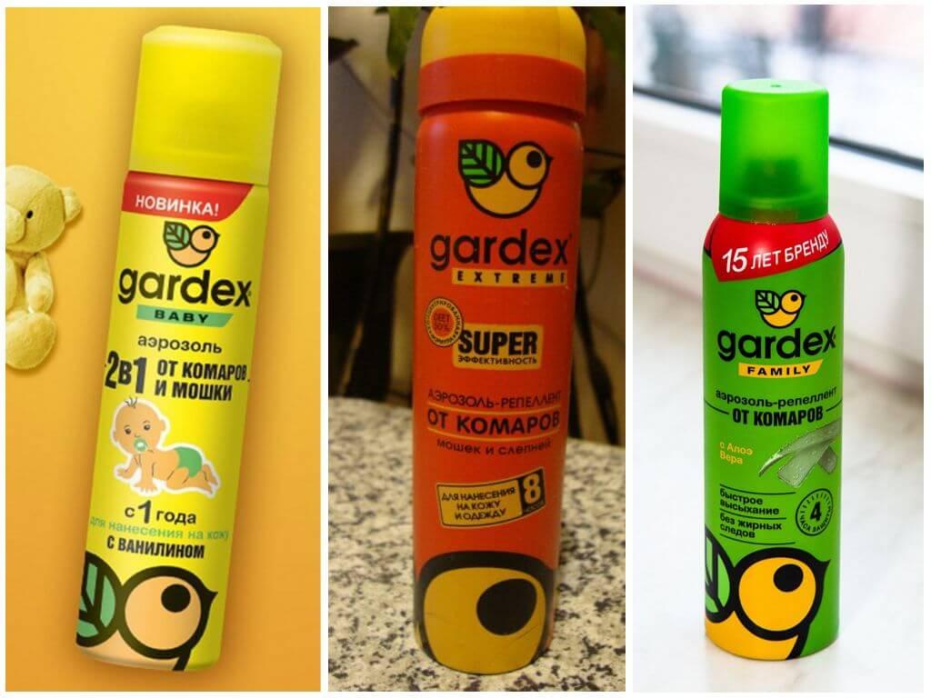 Аэрозоли Gardex от комаров