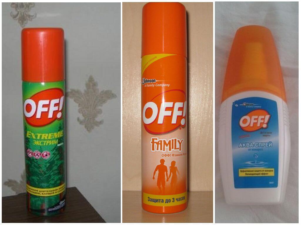 Продукция Офф для защиты от комаров