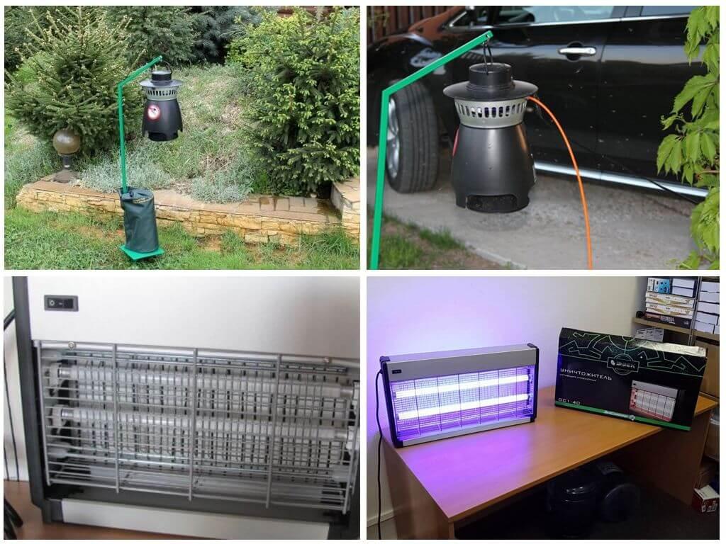 Электроловушки для защиты от насекомых