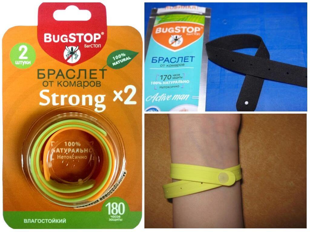 Модели браслетов марки Bugstop