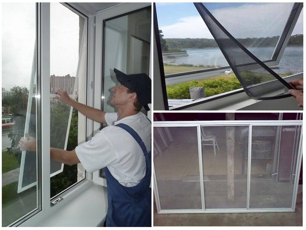 Монтаж сетки на окно