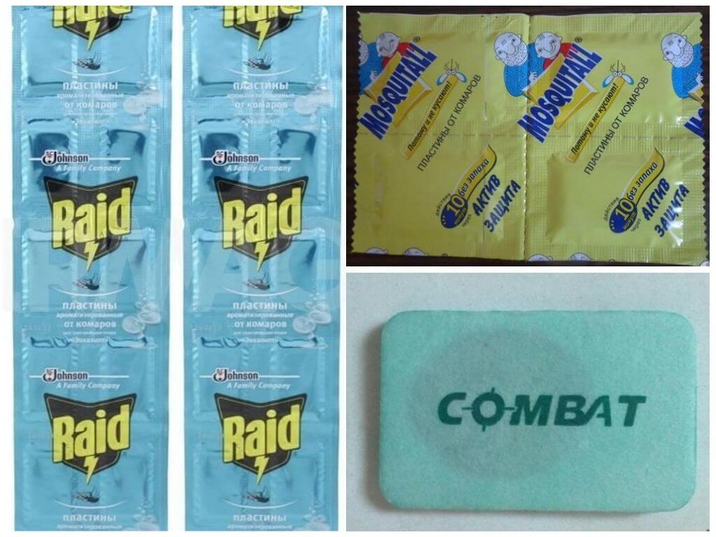 Пластины для защиты от кровососущих насекомых