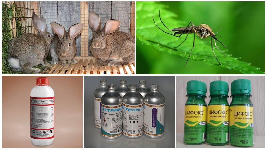 Средства для обработки крольчатника от комаров