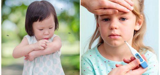 Температура от укусов комаров